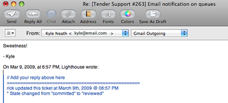Lighthouse Email Support